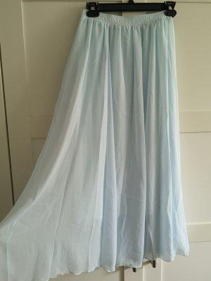Jupe en tulle bleu clair-bleu