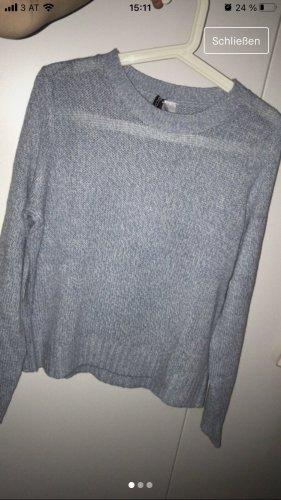 H&M Divided Cienki sweter z dzianiny jasnoniebieski
