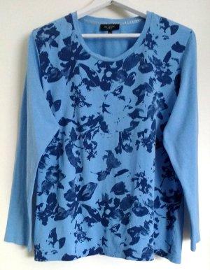 Hellblauer Sweatshirt mit Straß am Kragen Rundhals Gr. XL