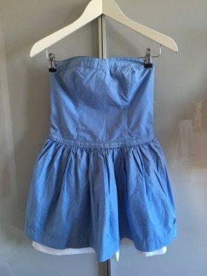 Superdry Abito baby-doll bianco-azzurro Cotone