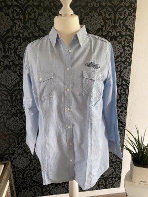 Gina Benotti Long Sleeve Blouse azure cotton