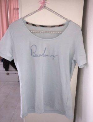 Hellblaues Burberry T-Shirt