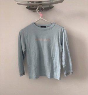 Hellblaues Burberry T-Shirt 3/4 Ärmel