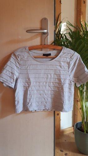 Topshop Petite Cropped Shirt azure cotton