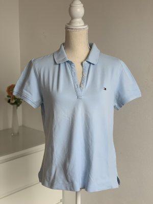 Hellblaues Damen Polo-Shirt von Tommy Hilfiger Gr. L