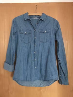 Anti Blue Denim Shirt cornflower blue cotton