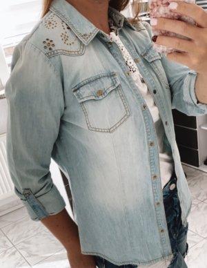 Only Jeansowa koszula błękitny