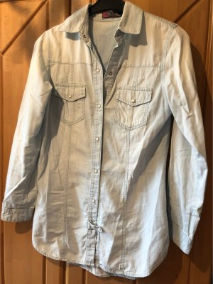 Robe en jean bleu azur