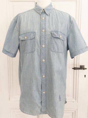 Hellblaues Kurzarmhemd von L.O.G.G. Regular