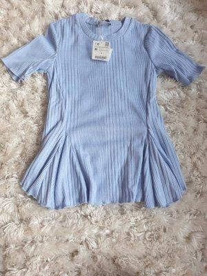 Zara Basic Ribbed Shirt azure