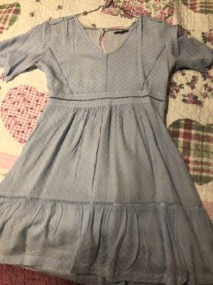 Hellblaues Sommerkleid in Baumwolle,  Grösse 36, von Suncoo Paris