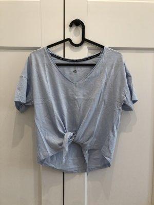 H&M T-shirt de sport bleu azur-bleu clair