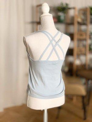 Mango Camicia maglia azzurro Cotone