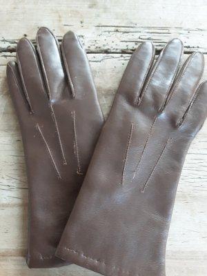 Gants en cuir marron clair