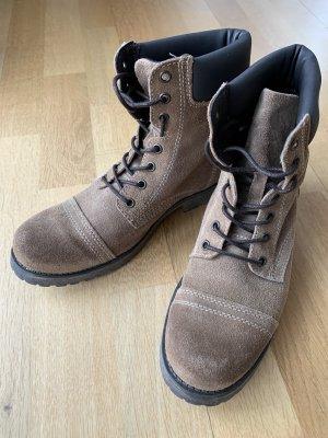 Catwalk Botas del desierto marrón claro Cuero
