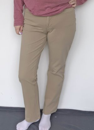 Mac Jeans a vita alta beige Cotone