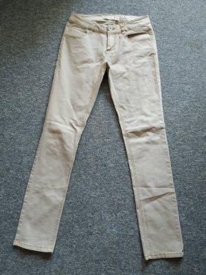 Janina Pantalon cigarette beige clair tissu mixte