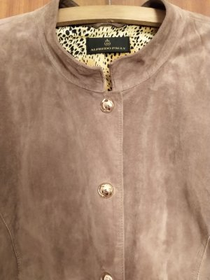 Alfredo Pauly Leather Jacket grey brown-light brown