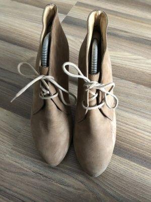 hellbraune PAUL GREEN Ankle Boots zum Schnüren