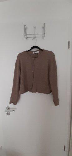 Zara Gilet tricoté marron clair