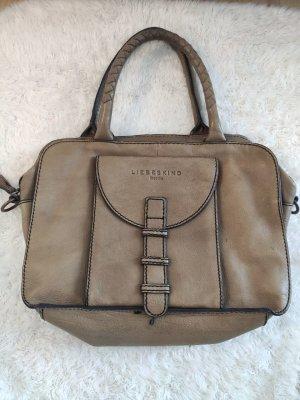 Hellbraune Vintage Liebeskind Tasche aus Leder