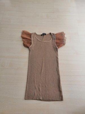 Gehaakt shirt grijs-bruin-lichtbruin