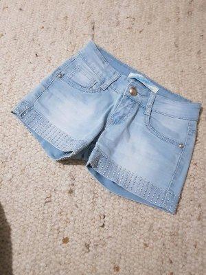 Pantalón corto de tela vaquera azul celeste-azul aciano