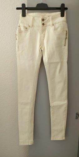 Pantalon en laine crème