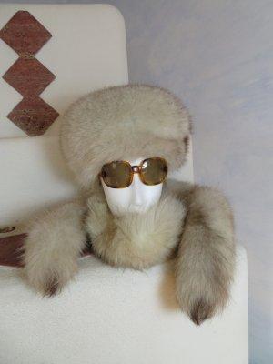 Vintage Cappello in pelliccia bianco sporco Pelliccia