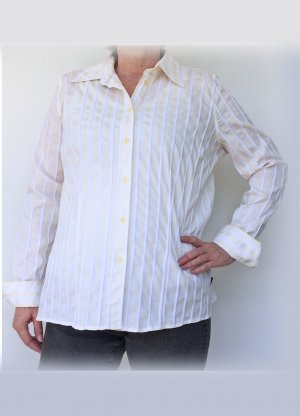 Bogner Jeans Shirt Blouse white-pale yellow cotton