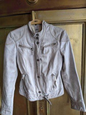 Gipsy Leather Jacket oatmeal