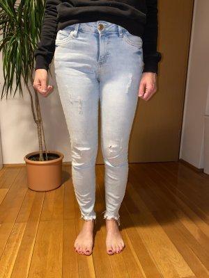 & DENIM 7/8-jeans azuur