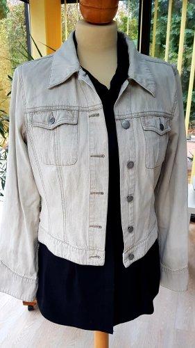 Mexx Blazer en jean beige clair coton
