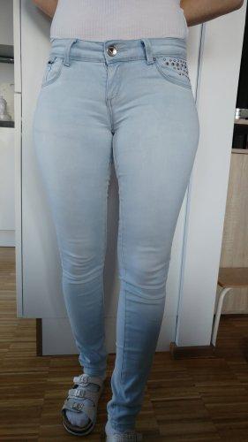Toxik3 Drainpipe Trousers light blue-blue