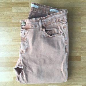 Helle Skinny Jeans mit Reißverschluss