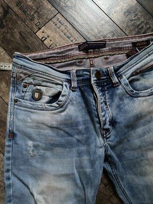 1 brand Boyfriend jeans azuur-korenblauw