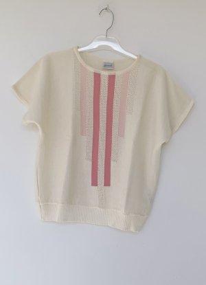 Scholler Maglione a maniche corte bianco sporco-rosa Acrilico