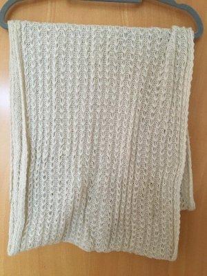 H&M Bufanda de punto beige claro-crema tejido mezclado