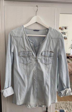 Guess Jeansowa koszula jasnoniebieski