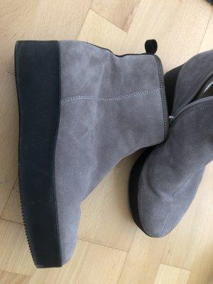 Högl Botas de piel gris claro