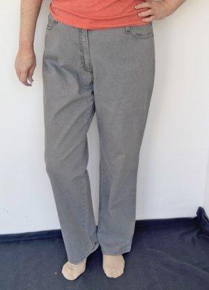 Brax Jeans a vita alta grigio chiaro Cotone