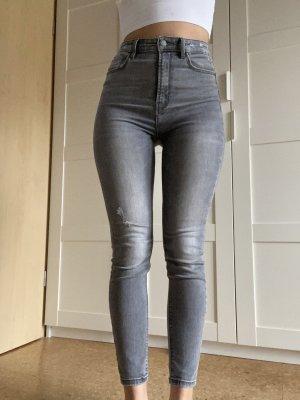Stradivarius Jeans skinny gris