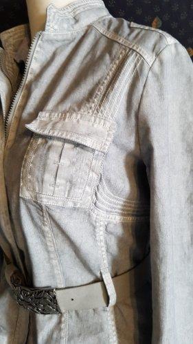 Hellgraue Jeansjacke und trendigen Wascheffekten von Sayes in Größe 40
