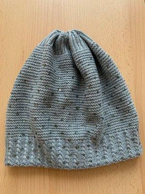 Hallhuber Cappello a maglia grigio chiaro-argento