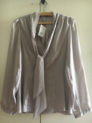 H&M Blouse avec noeuds gris clair