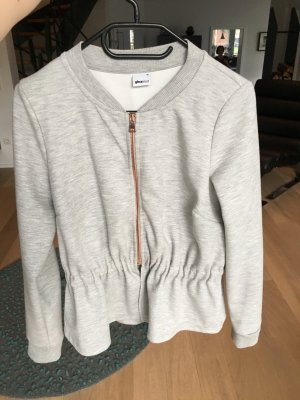 Hellgraue Sweatshirtjacke