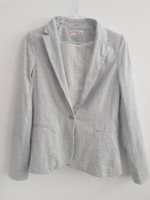 C&A Clockhouse Sweat Blazer silver-colored polyester