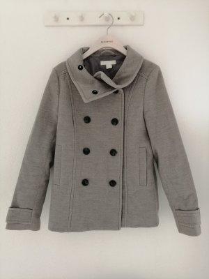 H&M Abrigo de piloto gris claro