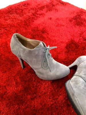 5th Avenue Chaussure à talons carrés gris clair daim