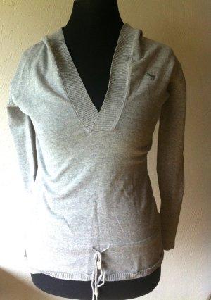 3 Suisses Capuchon sweater lichtgrijs Katoen